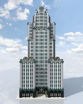 Art Deco Skyscraper Minecraft Map & Project