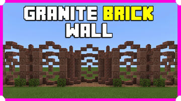 How To Build A Granite Brick Wall Minecraft Map & Project