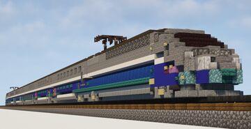 1.5:1 Scale TGV Duplex High Speed Train Minecraft Map & Project