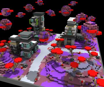Purple Planet Sci-Fi KOTH [100x100] Minecraft Map & Project