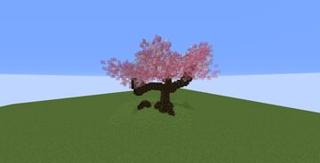 Large custom pink tree Minecraft Map & Project
