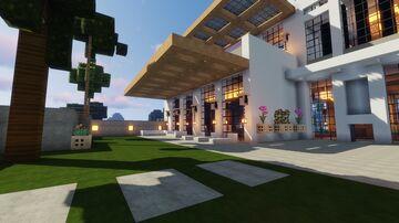 modern beach villa Minecraft Map & Project