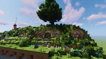 Bilbo's Hobbit Hole - A close representation Minecraft Map & Project
