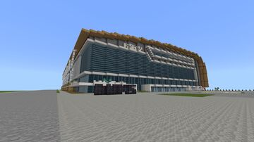 Fiserv.Forum (Milwaukee Bucks) Milwaukee, Wisconsin 1:1 (Only Exterior) Minecraft Map & Project