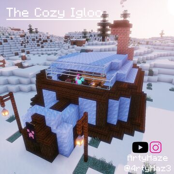 The Cozy Igloo Minecraft Map & Project