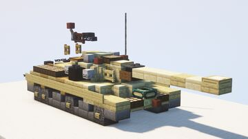 IS-3 heavy tank (Object 703), Six-Day War version - 1.5:1 scale Minecraft Map & Project