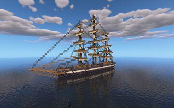HMS Fortinatta - A 19th Century Clipper Ship Minecraft Map & Project