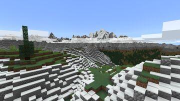 Alps Mt Blanc (Java+Bedrock) Minecraft Map & Project