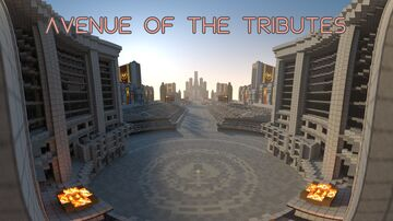 The Avenue of the Tributes, from the Hunger Games Minecraft Map & Project