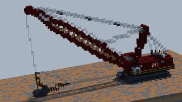 Manitowoc 4600, Dragline [With Download] Minecraft Map & Project