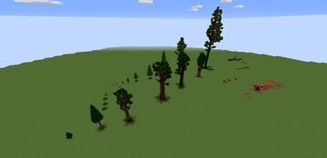 Sequoia and Redwood treepack. Minecraft Map & Project