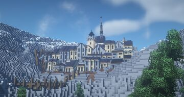 medieval mountain town (Alenvins Project) Minecraft Map & Project