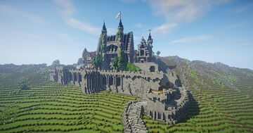 Lonely castle [2000x2000] Minecraft Map & Project