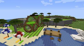 Modern summer getaway house Minecraft Map & Project