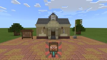 The Animal Crossing: New Horizons Town Hall!! Minecraft Map & Project
