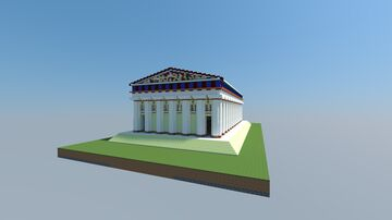Temple of Olympian Zeus at Agregento 16.5 Minecraft Map & Project