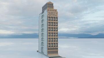 The Lapusian Banker's Building | An Experimental Roman Skyscraper Minecraft Map & Project