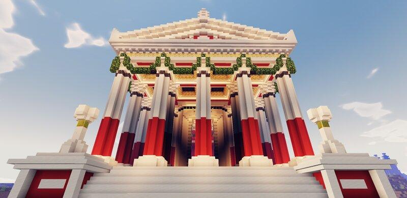 Facade of Second Temple
