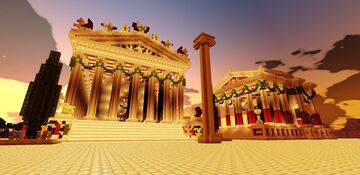 Roman Temples of Jupiter and Juno (Bedrock Edition) Minecraft Map & Project