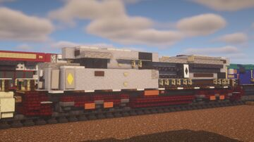 """Canadian Pacific - EMD SD70ACu """"Canadian Navy"""" Minecraft Map & Project"""