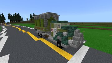 Fallout 3 US Army Truck Minecraft Map & Project