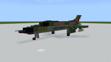 1.5:1 F-105 Thunderchief Minecraft Map & Project