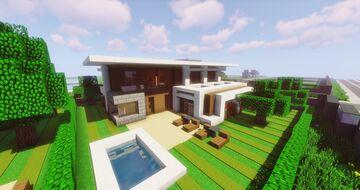 Modern NLC Cubus House #9 - NewLycantropiaCity build by ArcturusPhoenix Minecraft Map & Project