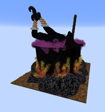 Witch in a Cauldron Minecraft Map & Project