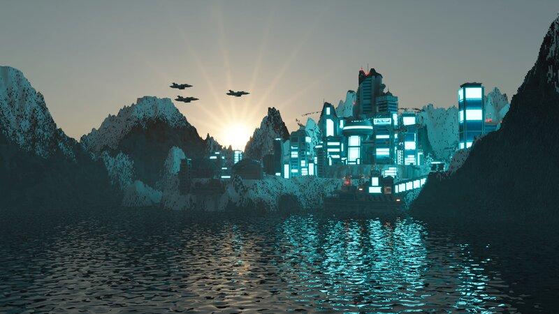 Futuristic City on the Titan