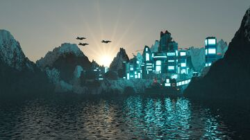 Futuristic City on the Titan Minecraft Map & Project