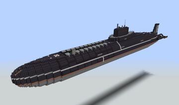 Project 941 Akula - Typhoon nuclear submarine (1:1) Minecraft Map & Project