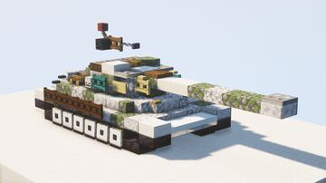 IS-6 heavy tank (Object 252), winter camouflage - 1.5:1 scale Minecraft Map & Project