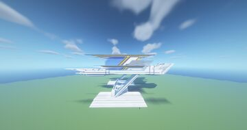 Big Futuristic House Minecraft Map & Project