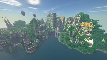 Fantasy City Spawn Minecraft Map & Project