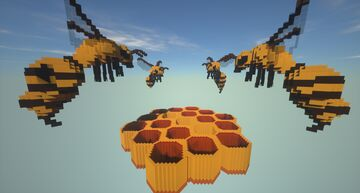 Bee HoneyComb Arena Map Minecraft Map & Project