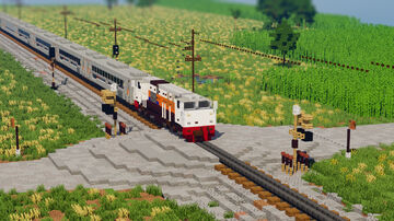 Indonesian Railway Train Diorama Minecraft Map & Project