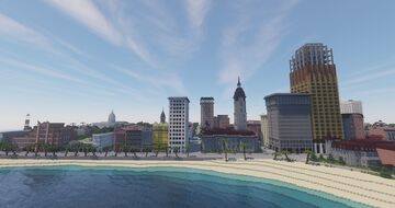Canford City, CF (fictional) American town in the 1920's Minecraft Map & Project