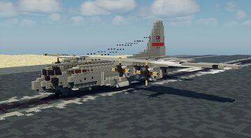 C-130H hercules - 1.5:1 Scale (V2) Minecraft Map & Project