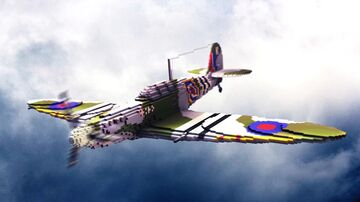 1938 British Super Marine Spitfire - Single-seat Fighter Aircraft Minecraft Map & Project