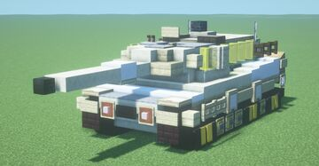 Leopard 2A6 (1.5:1 scale) Minecraft Map & Project