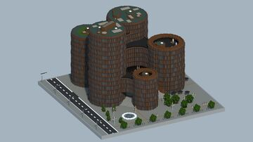 Axel Towers | Denmark Copenhagen Minecraft Map & Project