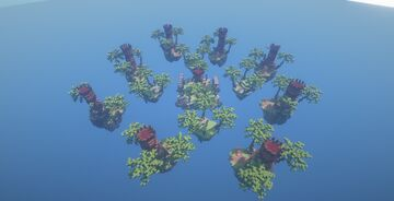 Bedwars Map 8 Teams Solo Minecraft Jungle Minecraft Map & Project
