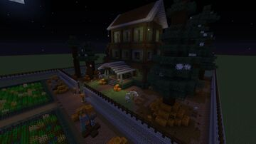 Spooky Mansion Halloween Minecraft Map & Project