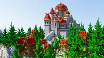 New medieval themed lobby/hub. 150x150 version 1.12.2 Minecraft Map & Project