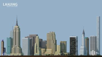 Midtown Manhattan - small scale replica Minecraft Map & Project