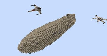 Star Wars Rebel Transport With Download #WeAreConquest Minecraft Map & Project