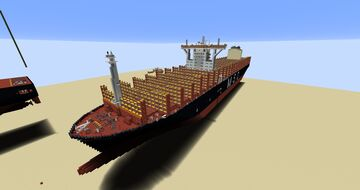 Container Ship MSC ISABELLA   1:1 Minecraft Map & Project