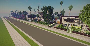 Modern Neighborhood Map + Pack #1 (10 Houses) Minecraft Map & Project