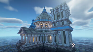 Water Palace (half submerged) Minecraft Map & Project