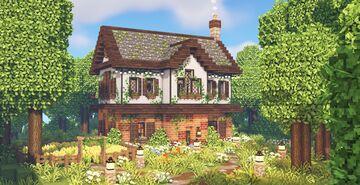 Cute Farmhouse 🌾🌳🍄 Minecraft Map & Project